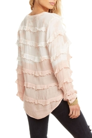 Chaser Gauze Ruffle Top - Front full body