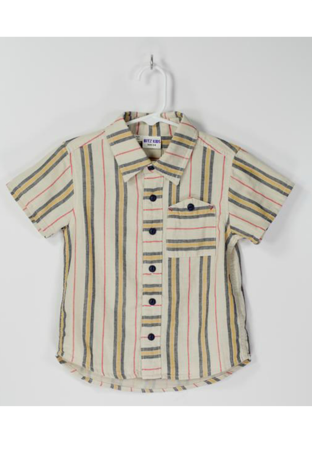 Bitz Kids  Gauze Striped Shirt - Front Cropped Image