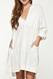 Love Stitch Gauze Tunic Dress - Product Mini Image