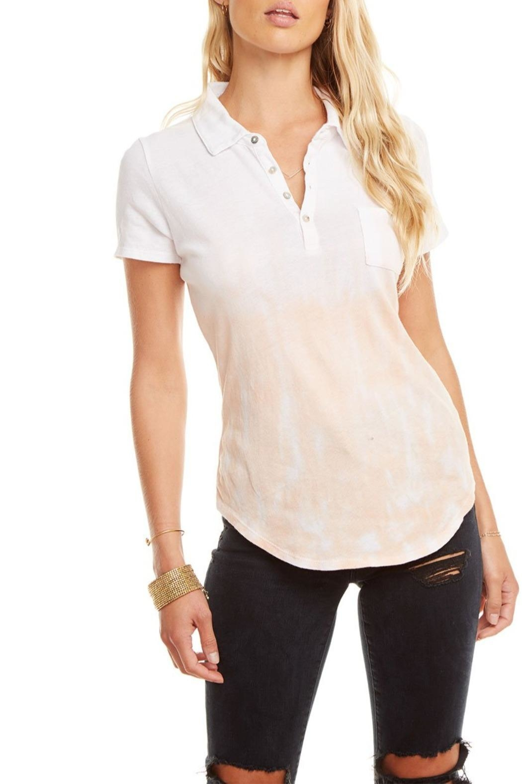 Chaser Gauzy Polo - Front Full Image