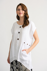 Joseph Ribkoff Gauzy Tunic, White - Product Mini Image