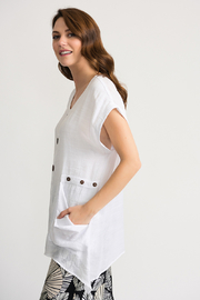 Joseph Ribkoff Gauzy Tunic, White - Front full body