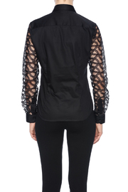 Gazoil Black Lace Shirt - Back cropped