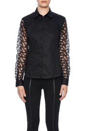 Gazoil Black Lace Shirt - Side cropped