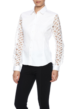 Gazoil White Lace Shirt - Product List Image
