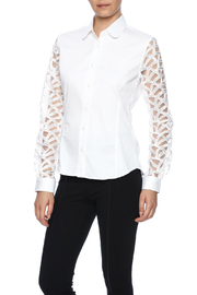 Gazoil White Lace Shirt - Product Mini Image