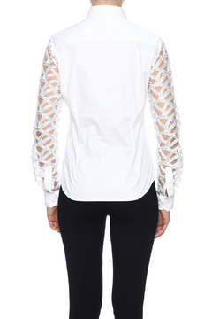 Gazoil White Lace Shirt - Alternate List Image