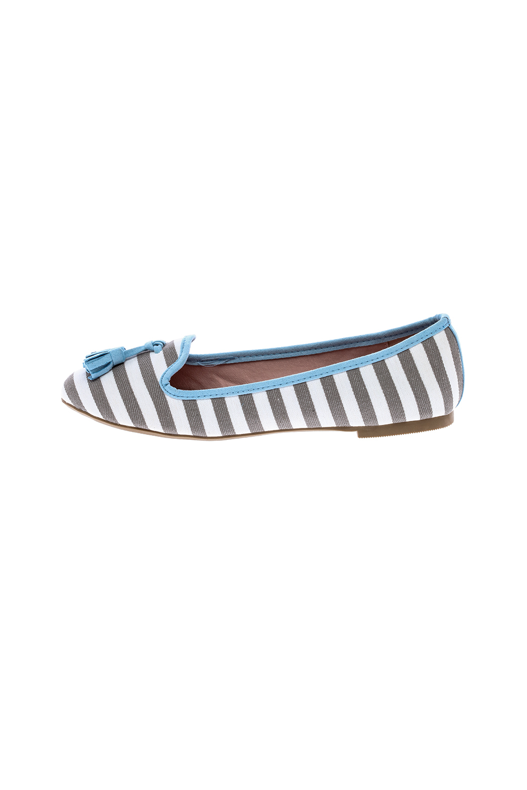 gc shoes Dorothy Striped Flat - Front Cropped Image