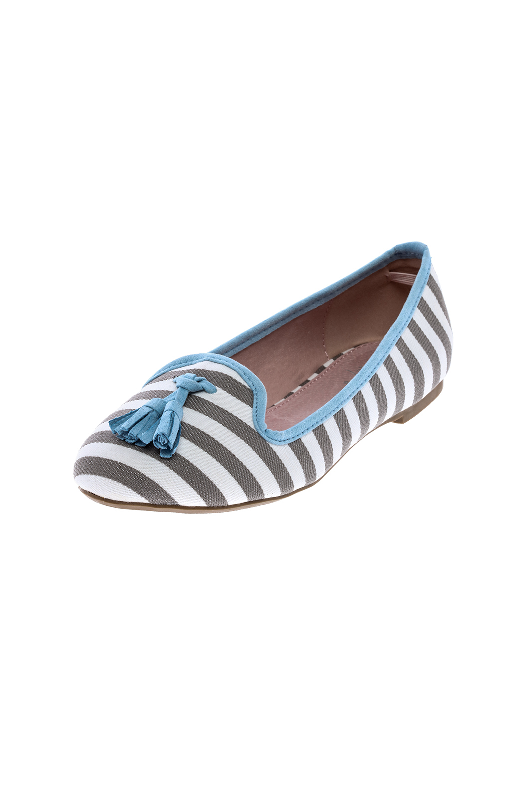 gc shoes Dorothy Striped Flat - Back Cropped Image