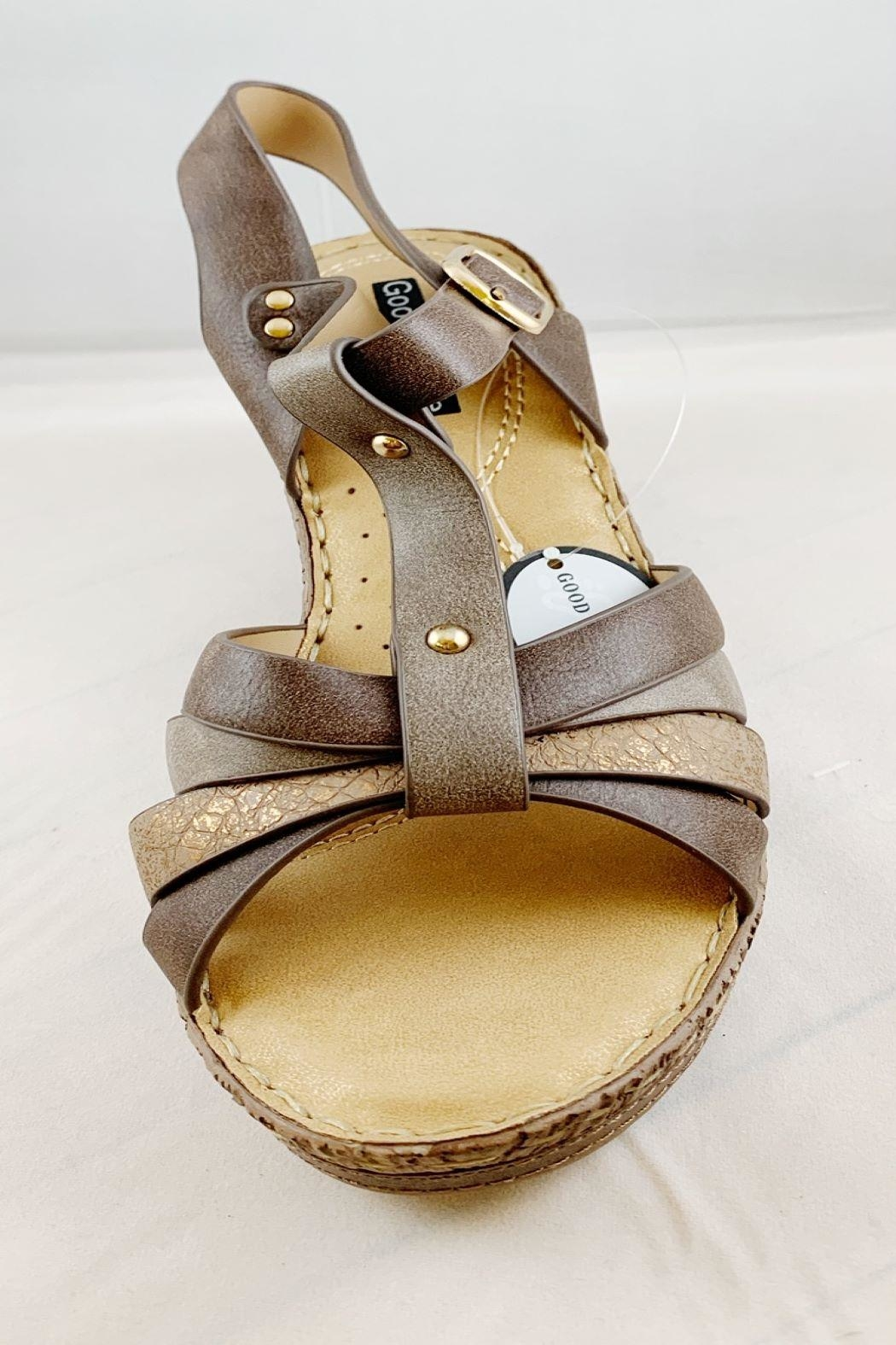 gc shoes Dulcie Brown Wedge - Front Full Image