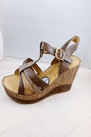 gc shoes Dulcie Brown Wedge - Front cropped
