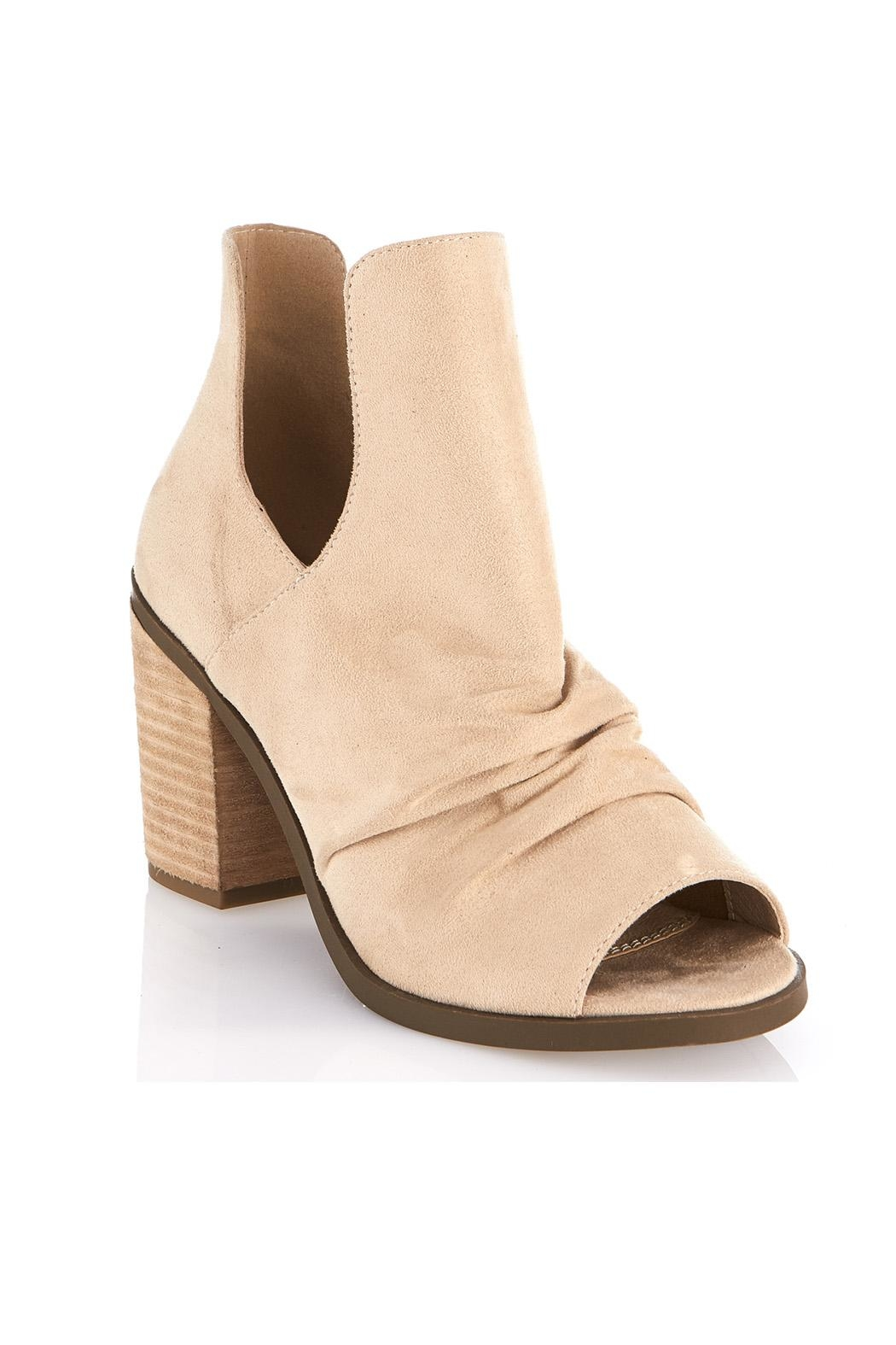 gc shoes Peep Toe Bootie - Front Cropped Image