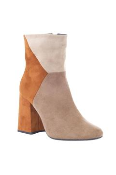 Shoptiques Product: Taupe-Multi Retro Boot