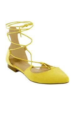 gc shoes Yellow Corset Lace Flat - Alternate List Image