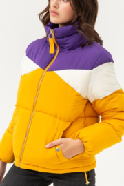 Love Tree Geaux Tiguhs Puffer - Front cropped