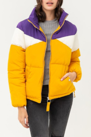 Love Tree Geaux Tiguhs Puffer - Back cropped