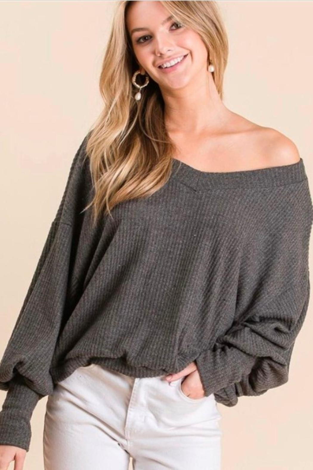 Gee Gee Puff Sleeve Top - Front Cropped Image