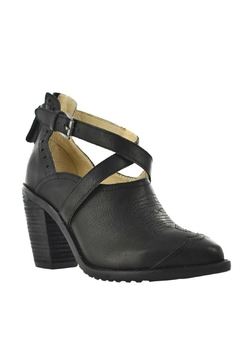Gee Wawa Black Leather Heel - Alternate List Image