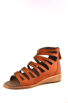 Shoptiques Product: Cognac Leather Gladiator Sandal