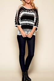 GeeGee Black & White Crochet Top - Product Mini Image