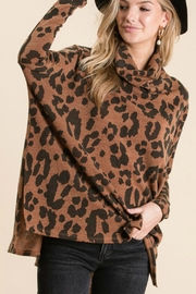 GeeGee Leopard Cowlneck Sweater - Side cropped
