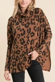GeeGee Leopard Cowlneck Sweater - Product Mini Image