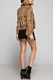 GeeGee Leopard Print Cardigan - Back cropped
