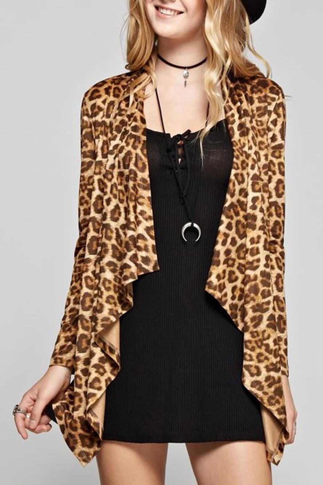 GeeGee Leopard Print Cardigan - Front Full Image