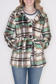 GeeGee Plaid Peacoat - Product Mini Image