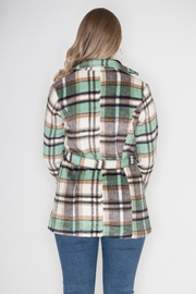 GeeGee Plaid Peacoat - Side cropped