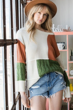 GeeGee Ribbed Pullover Sweater - Product List Image