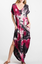 GeeGee Tie Dye Pocketed Dress - Product Mini Image