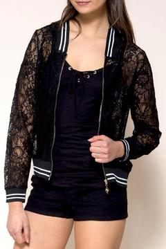 GeeGee Varsity Style Lace Jacket - Product List Image