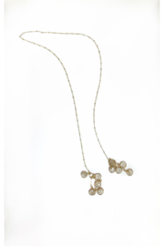 Deux Amies Gem Cluster Long Lariat - Front cropped