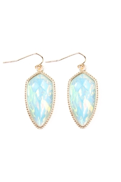 Shoptiques Product: Gem Fish-Hook Earrings