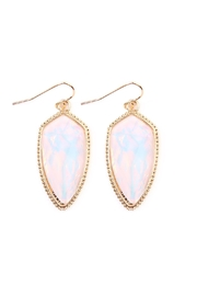 Riah Fashion Gem Fish-Hook Earrings - Front cropped