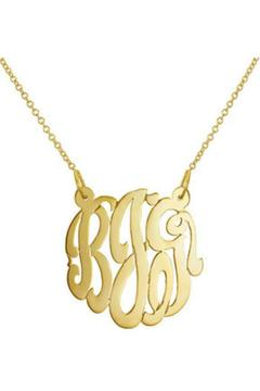 Gem Factor 10mm Monogram Necklace - Product List Image