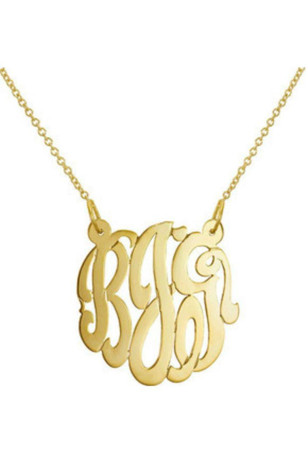 Gem Factor 23mm Monogram Necklace From New York By Let S