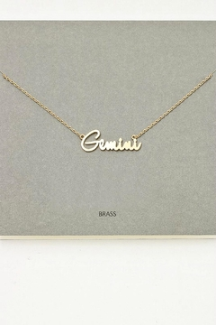 Anarchy Gemini Pendant Necklace - Product List Image