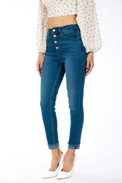 KanCan Gemma Button Down Skinny - Product List Image
