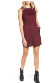 Bishop + Young Gemma Faux Suede Sleeveless Sheath Dress - Product Mini Image