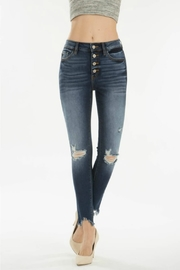 Kan Can GEMMA HIGH RISE DARK WASH - Front cropped