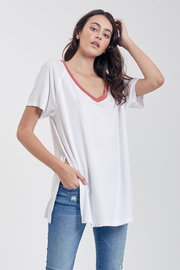 Another Love  Gemma V-Neck Tee - Product Mini Image