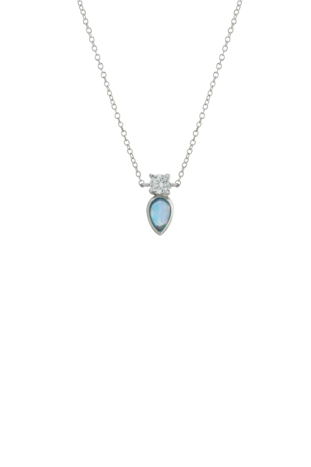 Gemma Collection Accented Opal Necklace - Main Image