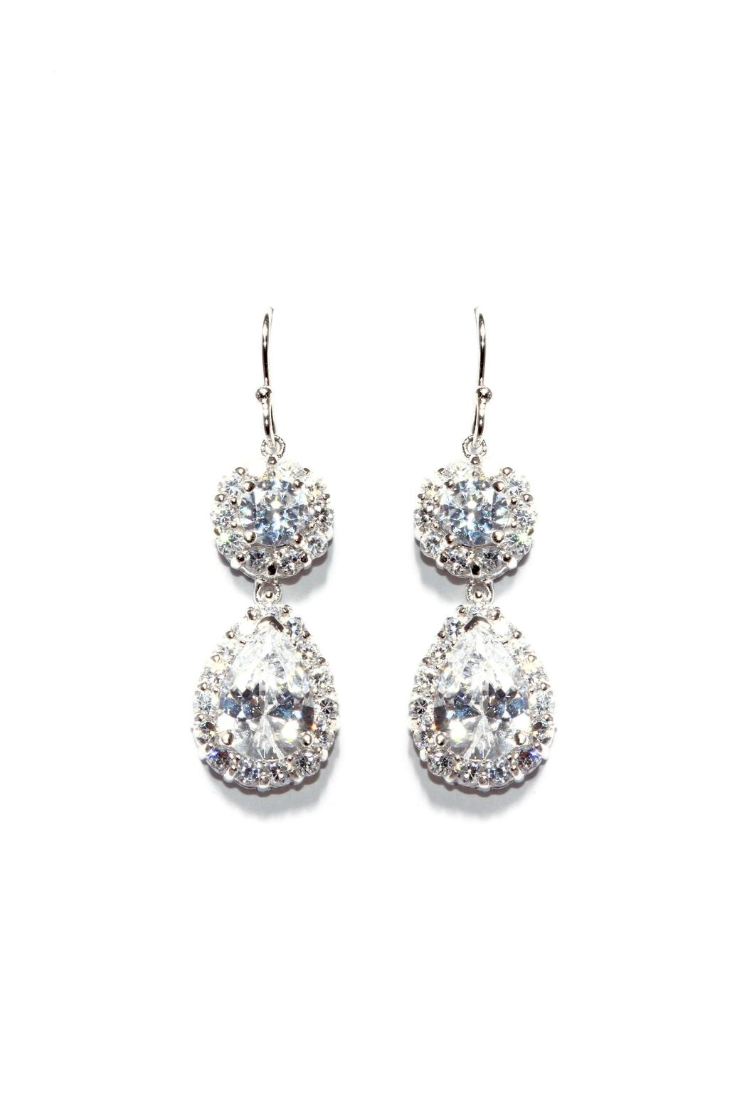 Gemma Collection Accented Pave Earrings - Main Image
