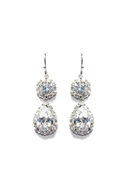 Gemma Collection Accented Pave Earrings - Front cropped