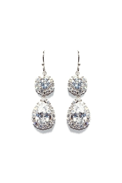 Shoptiques Product: Accented Pave Earrings
