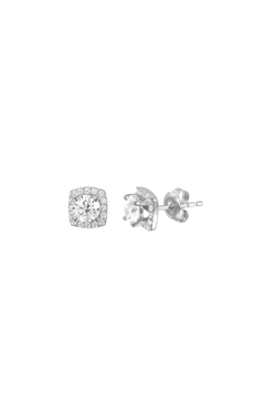 Shoptiques Product: Accented Solitaire Stud Earrings