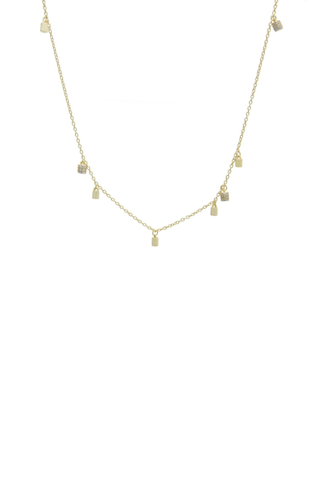 Gemma Collection Accented Station Necklace - Main Image