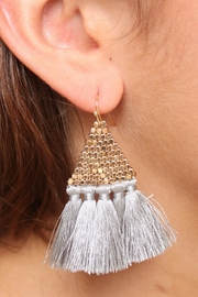 Gemma Collection Accented Tassel Earrings - Product Mini Image
